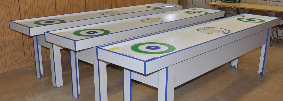 10u0027 Curling Game Tables Used Similar To A Shuffle Board Game.